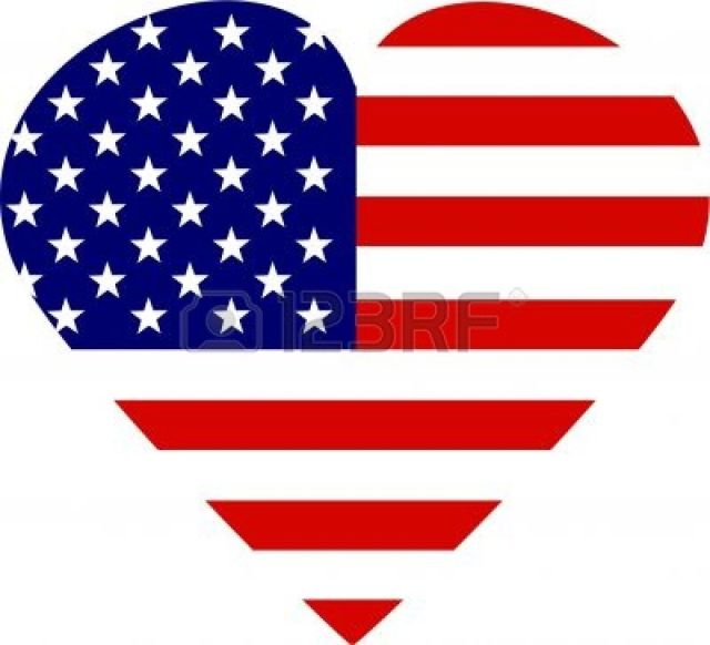 american flag heart Stock Photo - 244363