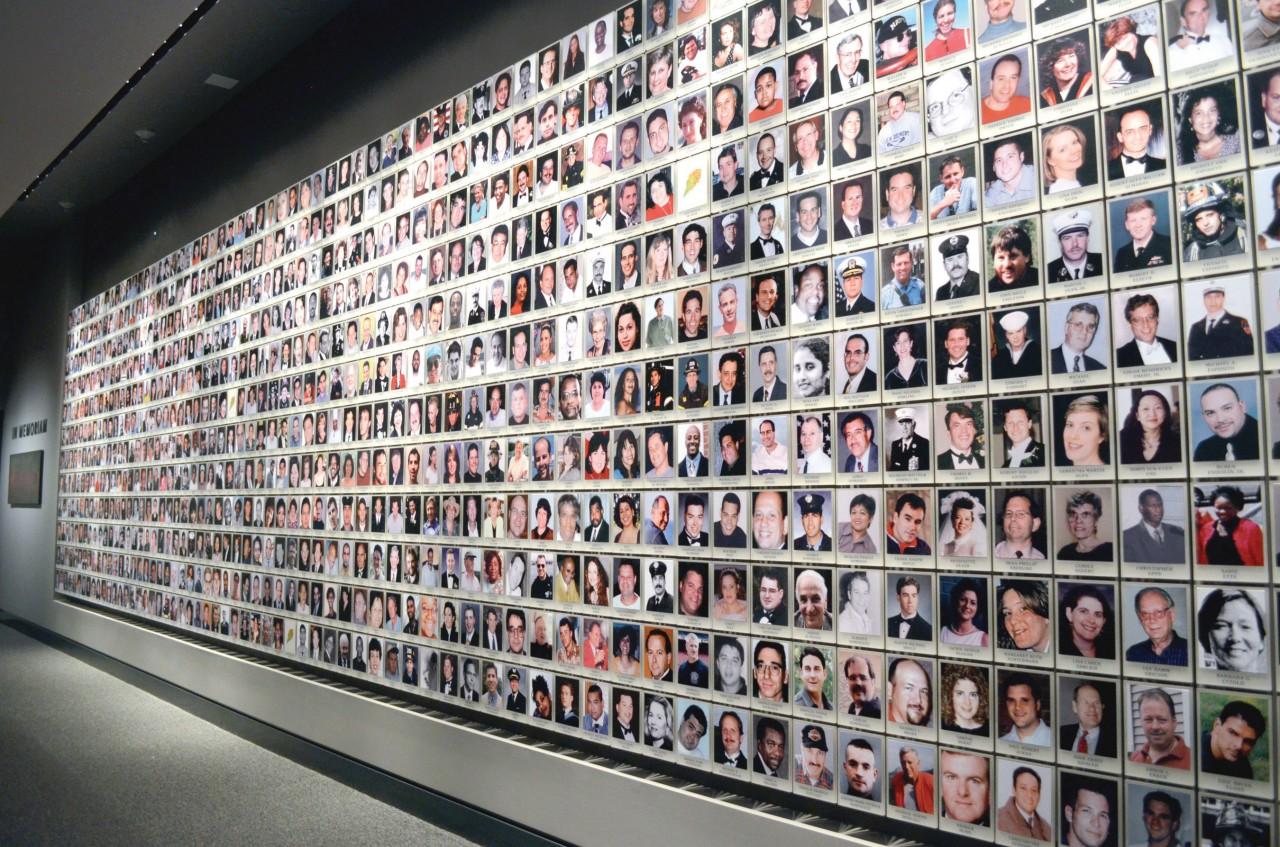 911 Memorial Wall of Photos