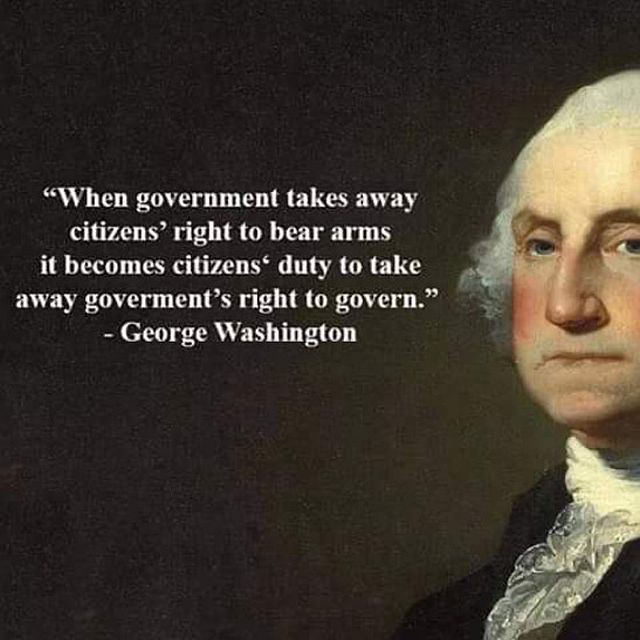 George Washington Quote - Bear Arms