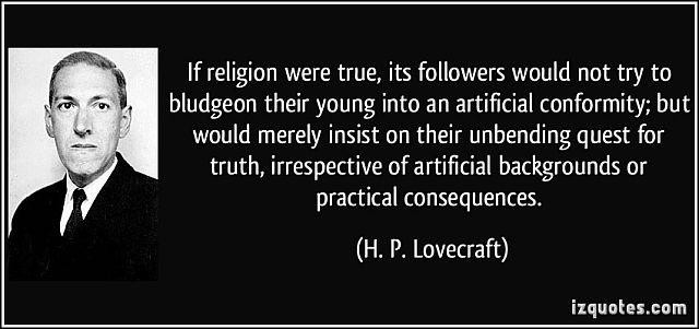 HP Lovecraft Quote - Religion