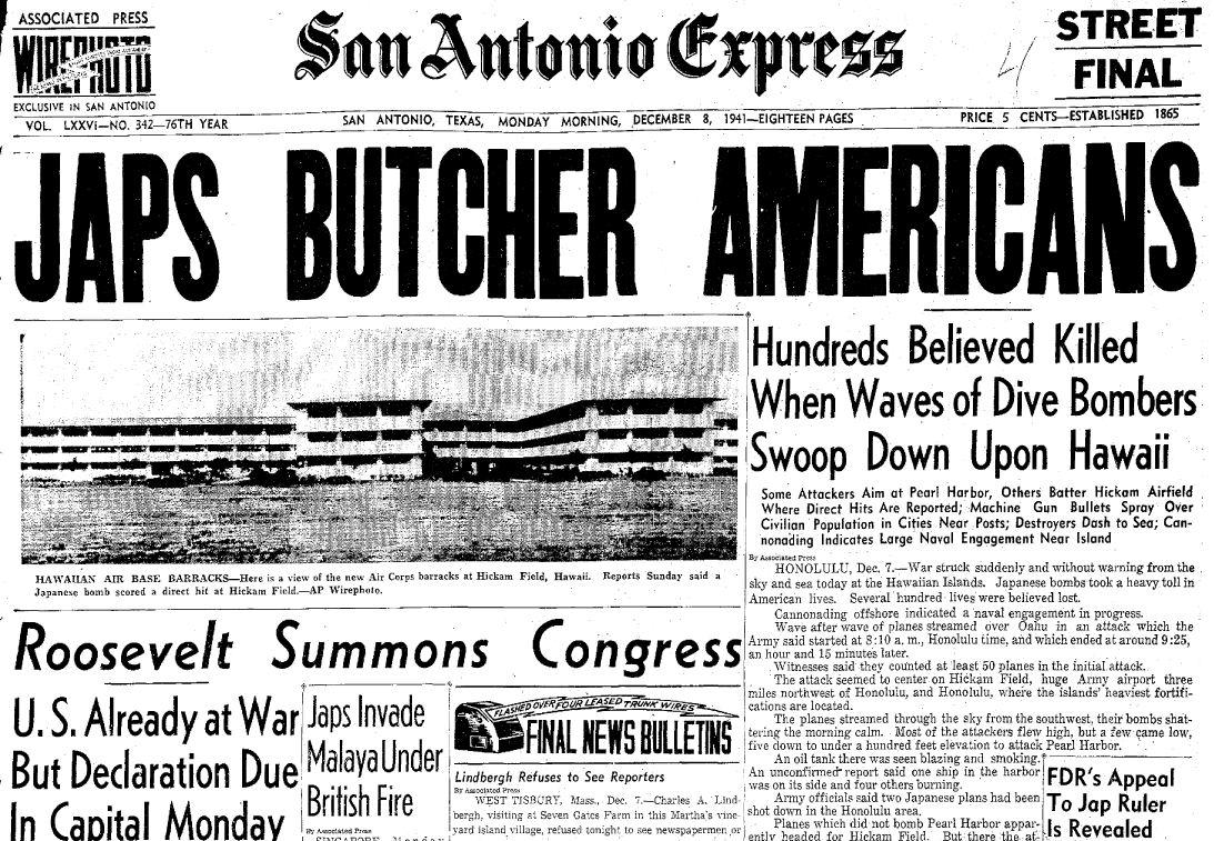 Japs Butcher Americans