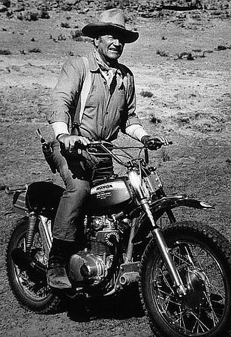 John Wayne On a Honda