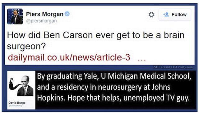 Piers Morgan re Ben Carson